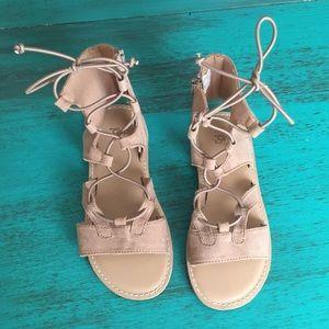Never worn! Gap kids lace up gladiator sandals